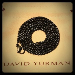 "David Yurman 24"" Stainless Steel BoxChain Necklace"